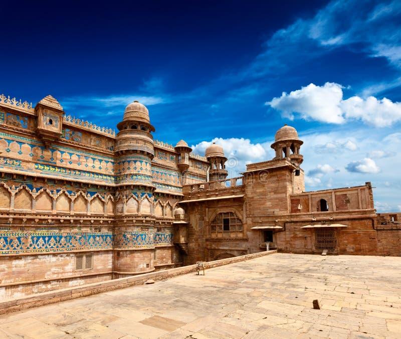 Forte de Gwalior, India fotografia de stock