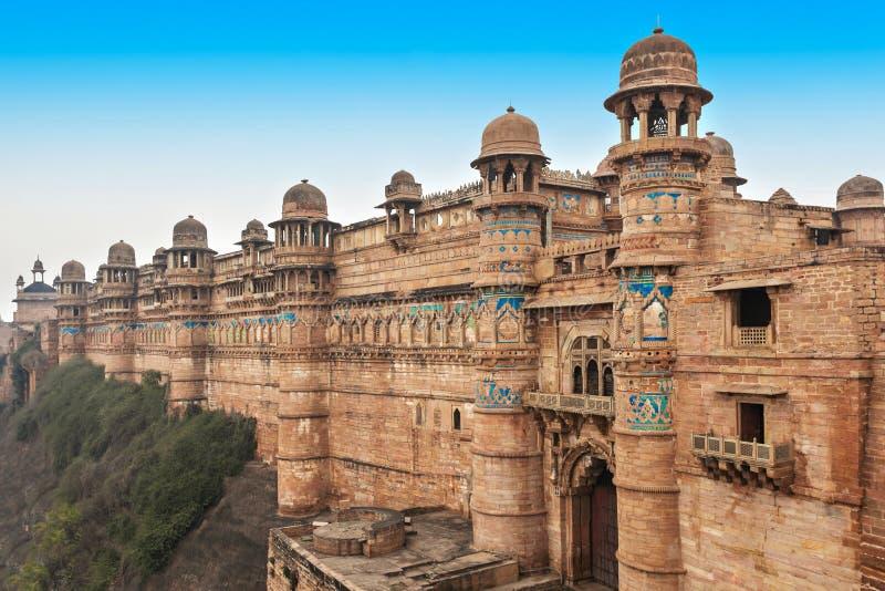 Forte de Gwalior, India imagens de stock