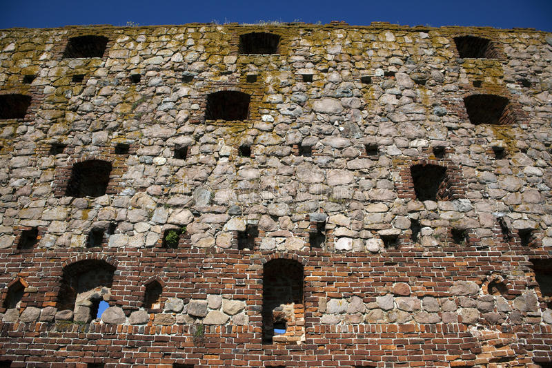 Forte de Hammershus, Dinamarca. foto de stock