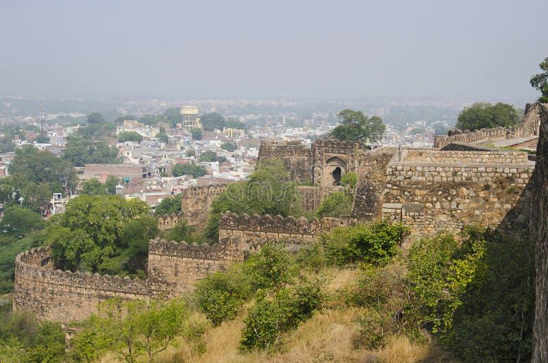 Forte de Jhansi, Jhansi, estado de Uttar Pradesh da Índia foto de stock