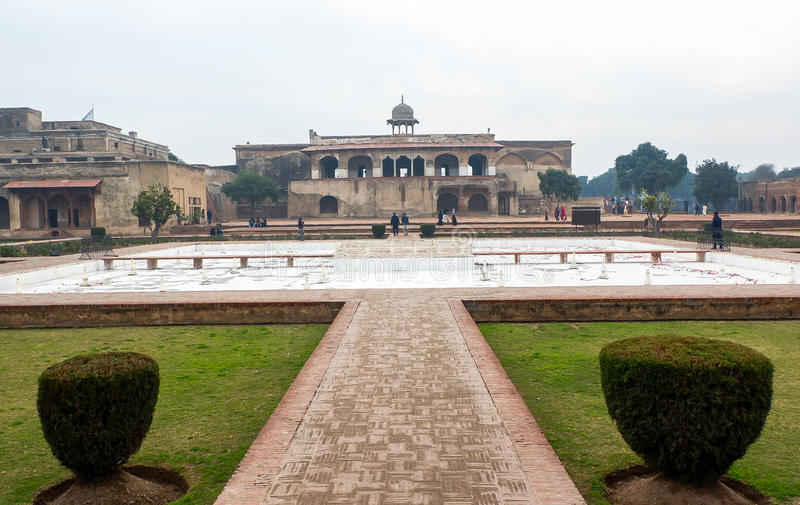 Forte de Lahore em Paquistão fotos de stock royalty free