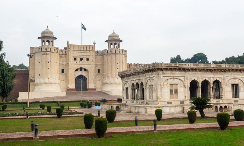 Forte de Lahore em Paquistão imagem de stock