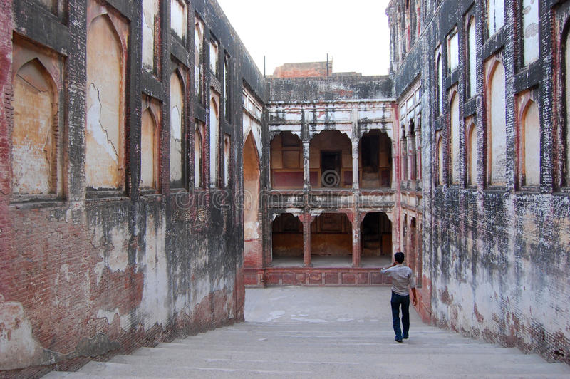 Forte de Lahore, Lahore, Paquistão imagens de stock royalty free