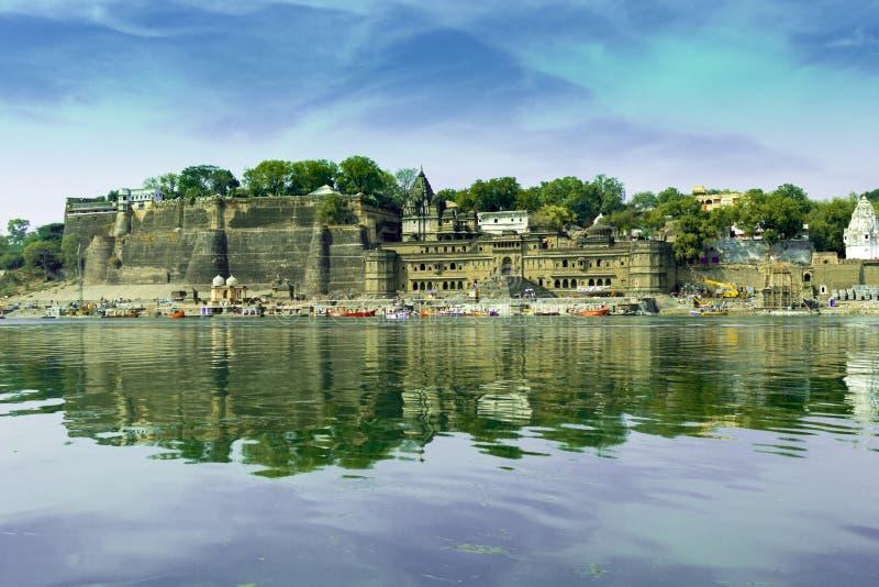 Forte de Maheshwar - Madhya Pradesh fotografia de stock