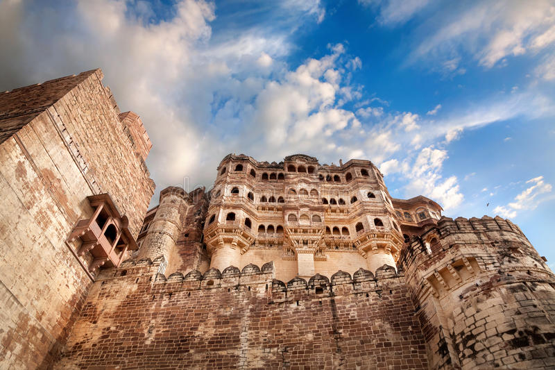 Forte de Mehrangarh na Índia fotografia de stock royalty free