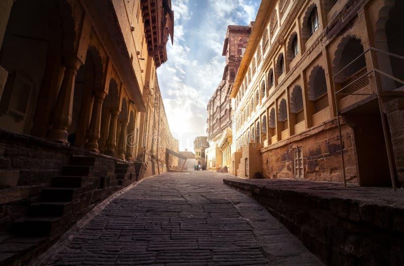 Forte de Mehrangarh na Índia imagens de stock royalty free