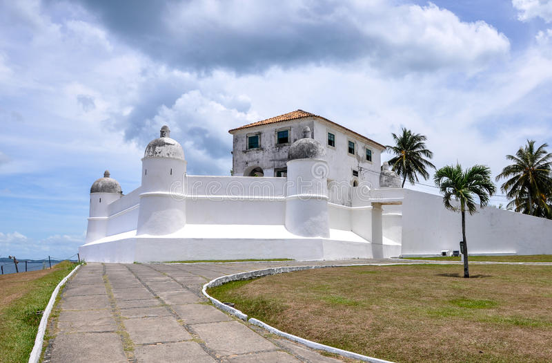 Forte DE Monte Serrat, Salvador de Bahia (Brazilië) stock afbeelding