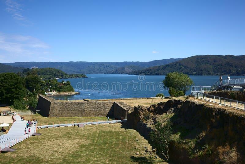 Forte de Niebla, o Chile foto de stock