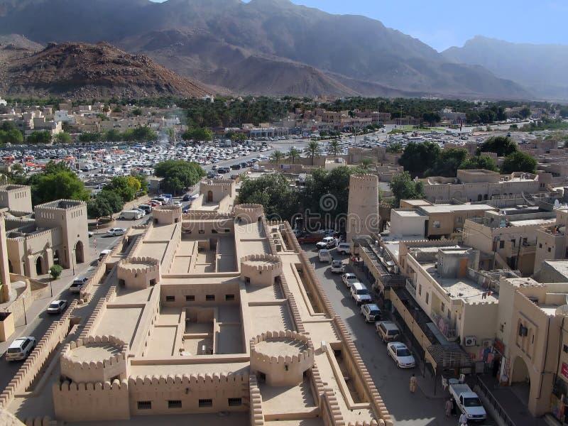 Forte de Nizwa em Oman fotografia de stock