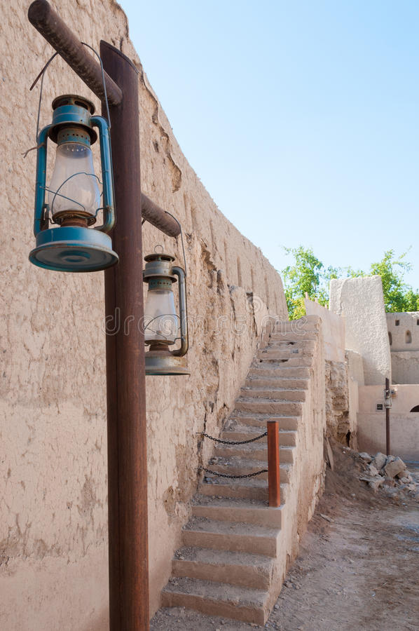 Forte de Nizwa, Omã fotografia de stock royalty free
