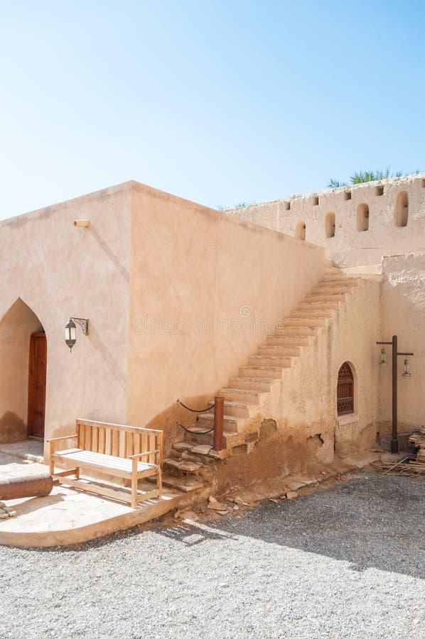 Forte de Nizwa, Omã imagem de stock