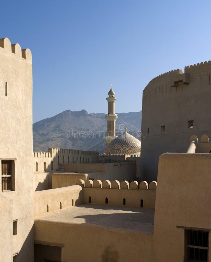 Forte de Nizwa, Oman imagem de stock