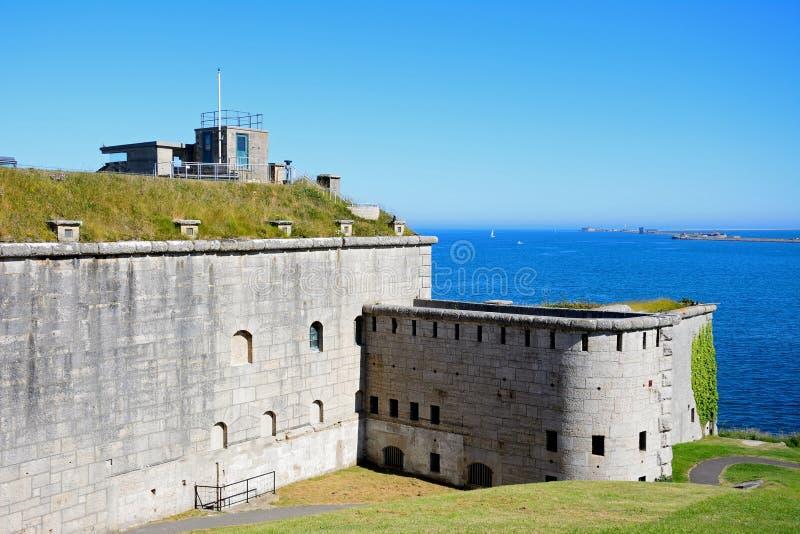 Forte de Nothe, Weymouth imagem de stock