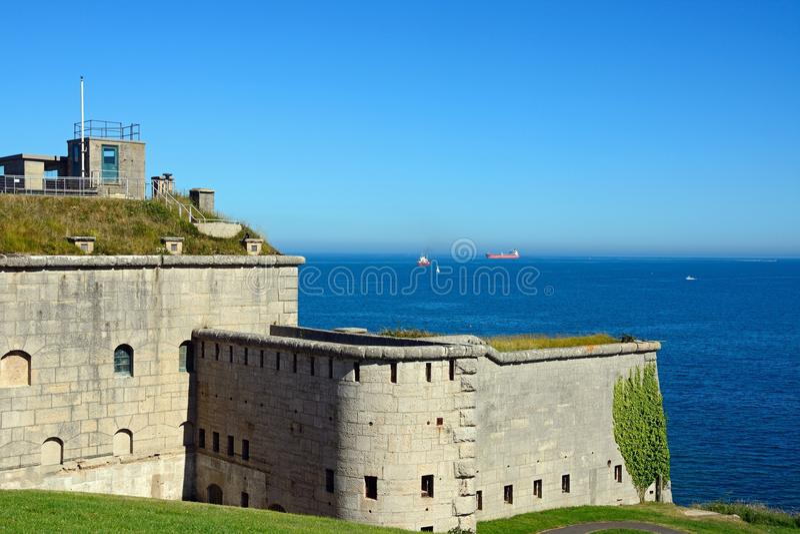 Forte de Nothe, Weymouth fotografia de stock