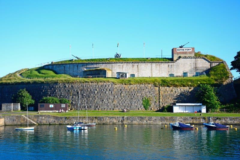 Forte de Nothe, Weymouth imagem de stock royalty free