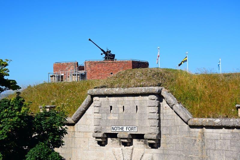 Forte de Nothe, Weymouth imagens de stock