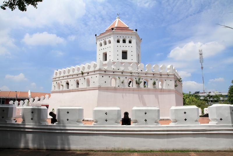 Forte de Phra Sumen em Banguecoque imagens de stock royalty free