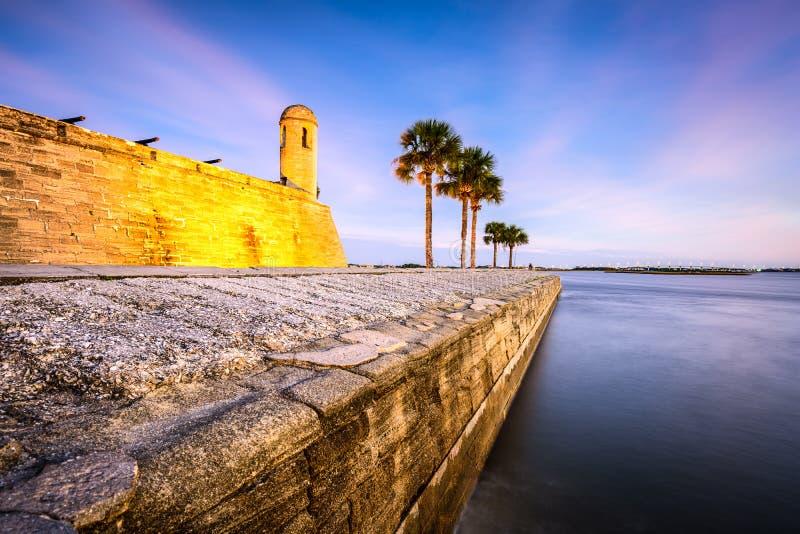 Forte de St Augustine, Florida imagens de stock royalty free