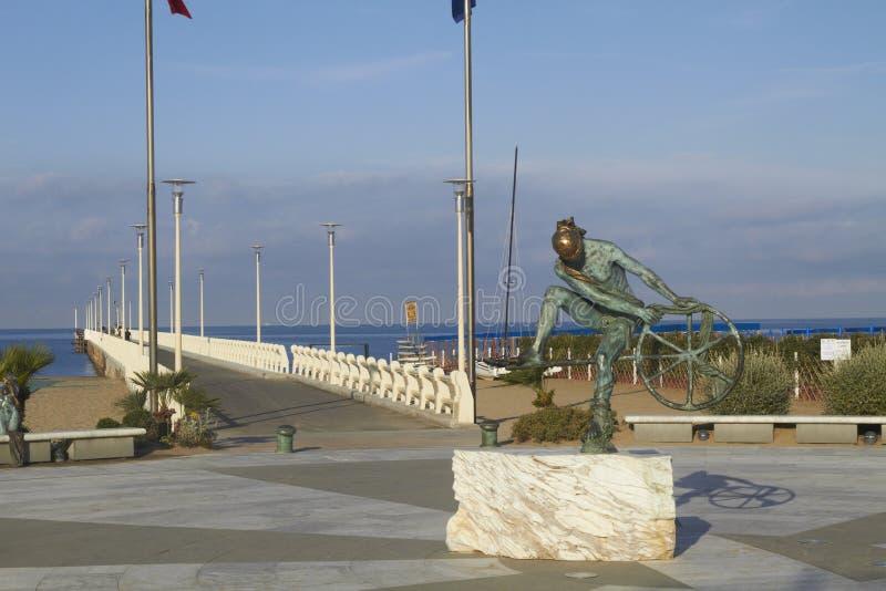 Forte dei Marmi, Versilia. A shot of the ponton of Forte dei marmi. Versilia coast in tuscany, Italy stock images
