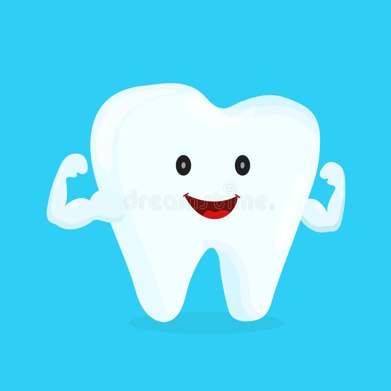 Forte dente bianco sano felice royalty illustrazione gratis