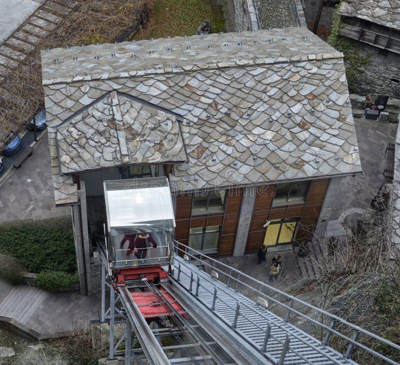 Forte di Bard,瓦尔d `奥斯塔地区意大利 库存照片