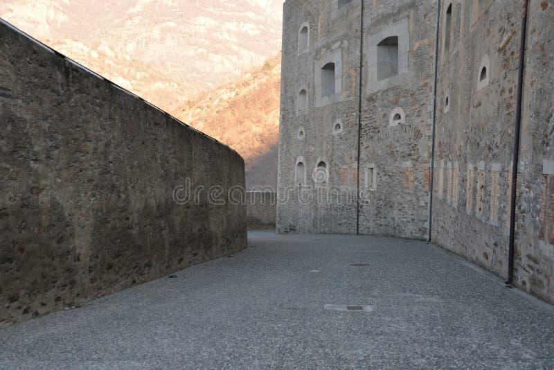 Forte di Bardo, passagem interna, defensivo mantém-se imagem de stock royalty free