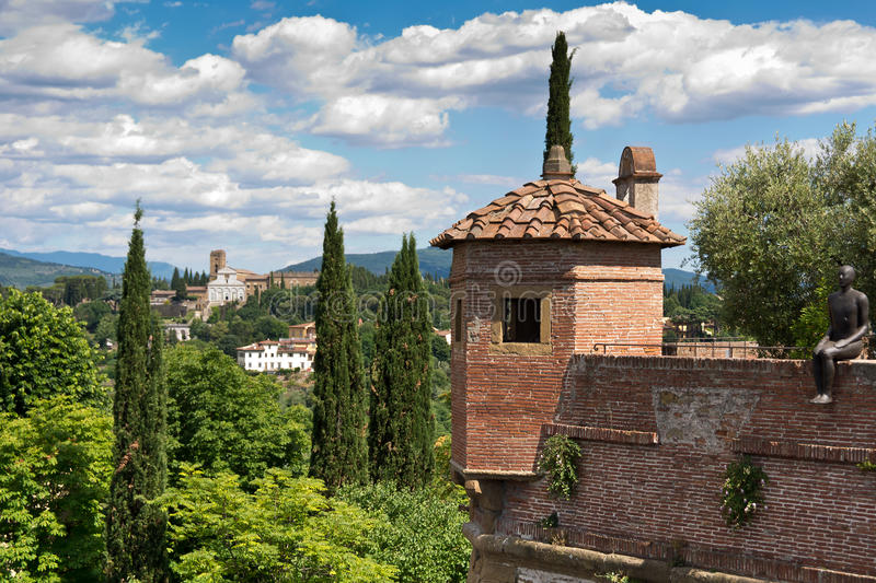 The Forte di Belvedere , Italy. The Forte di Belvedere is a fortification in Florence, Italy royalty free stock photography