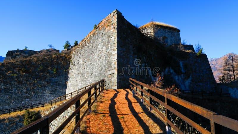 Forte- di Fenestrelle arkivbilder