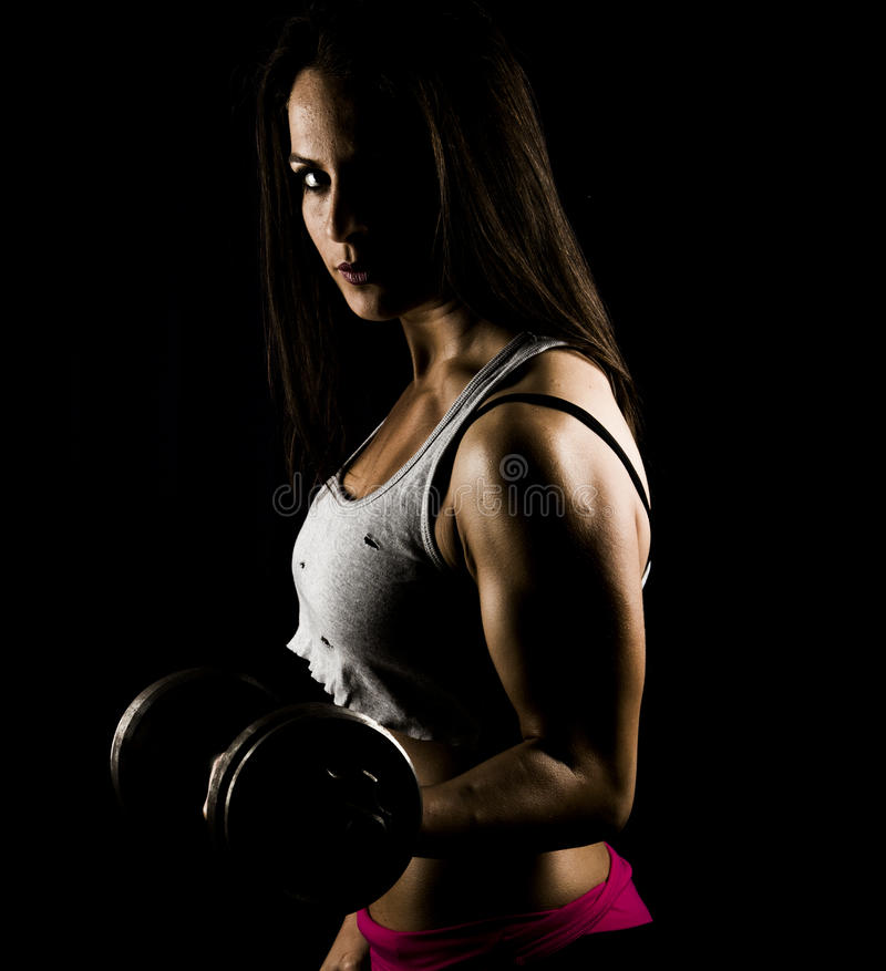 Forte donna di forma fisica immagine stock
