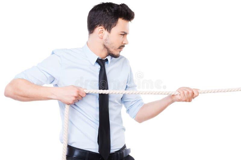 Forte e azienda leader sicura immagine stock