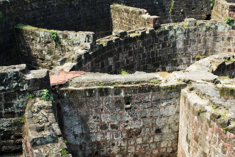 Forte espanhol arruinado em Manila intra muros imagens de stock royalty free