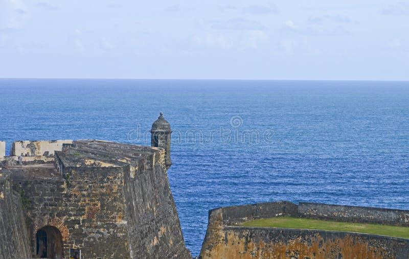 Forte espanhol Garita - cargo do olhar-para fora imagens de stock