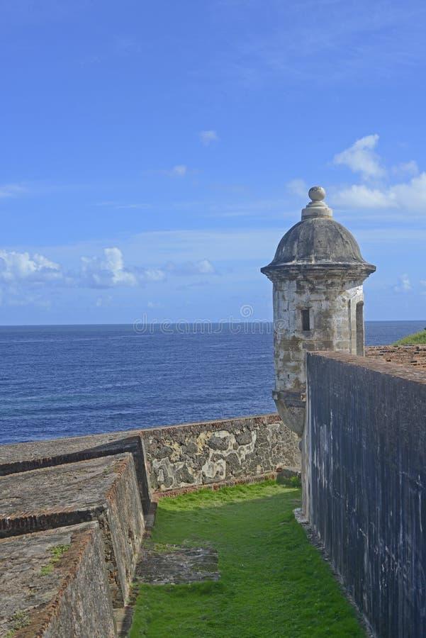 Forte espanhol Garita - cargo do olhar-para fora foto de stock royalty free