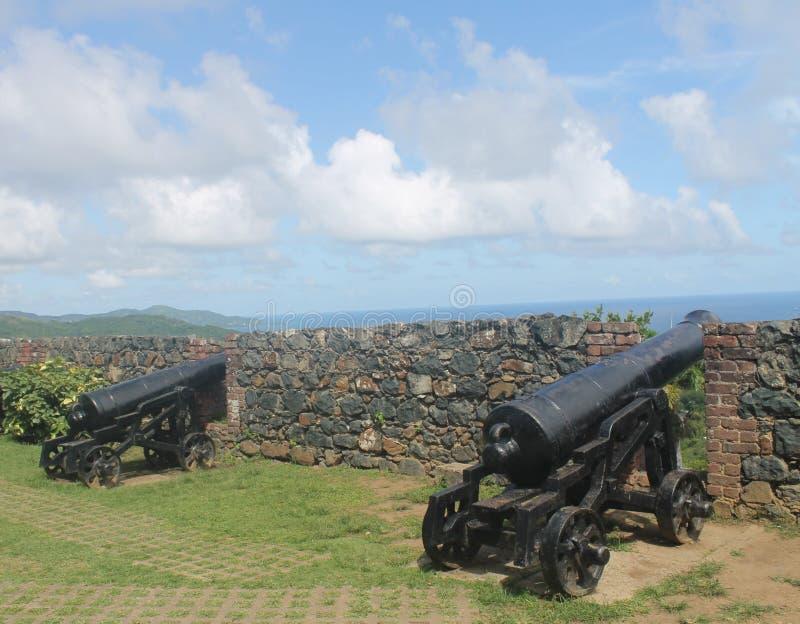Forte George, Scarborough Tobago fotografia de stock royalty free