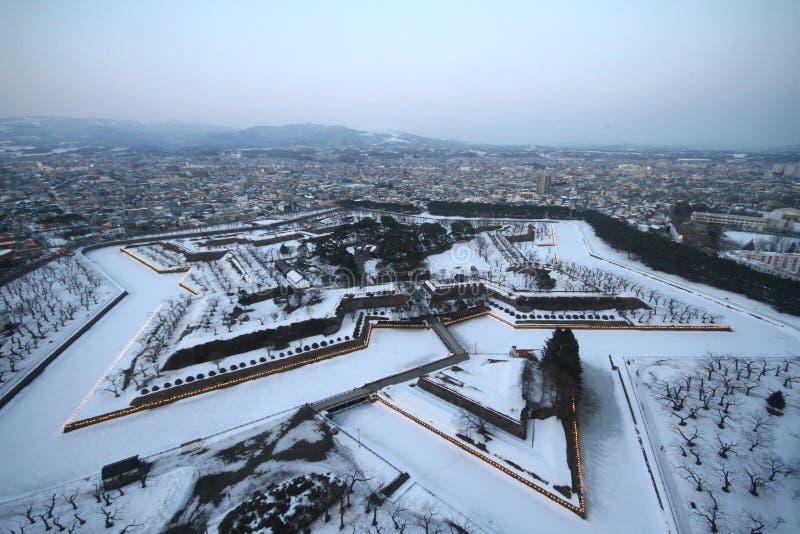 Forte Goryokaku, Hokkaido imagem de stock royalty free