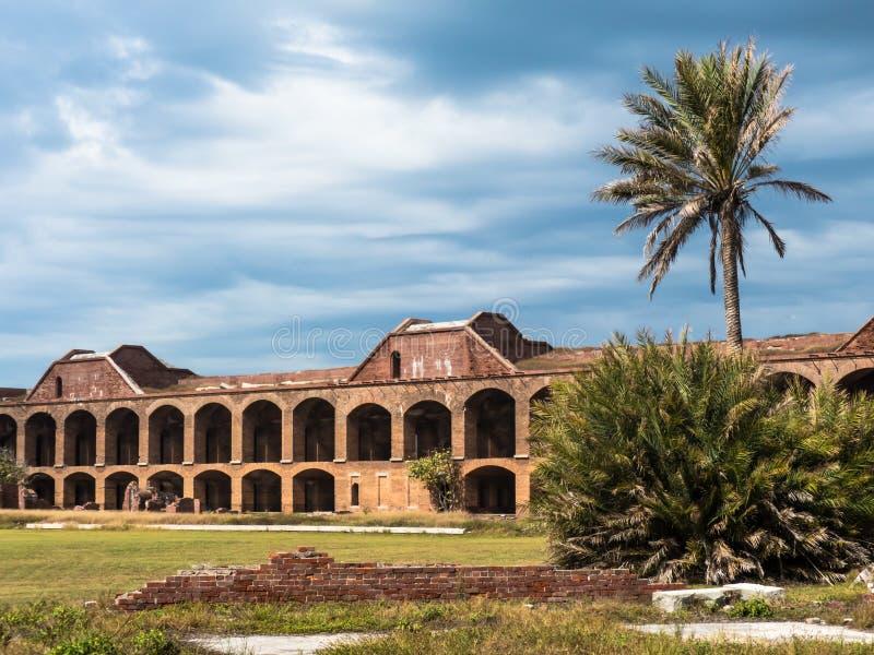 Forte histórico Jefferson no Tortugas seco