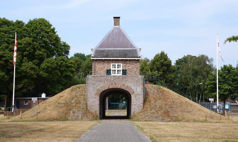 Forte Isabella em Vught, os Países Baixos fotografia de stock