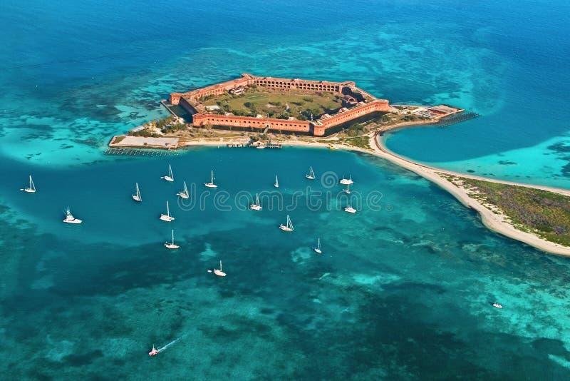 Forte Jefferson - parque nacional seco de Tortugas imagens de stock royalty free