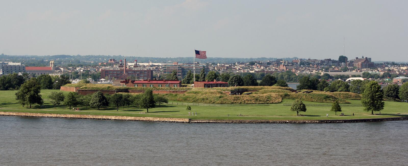 Forte McHenry, Baltimore, Maryland imagem de stock