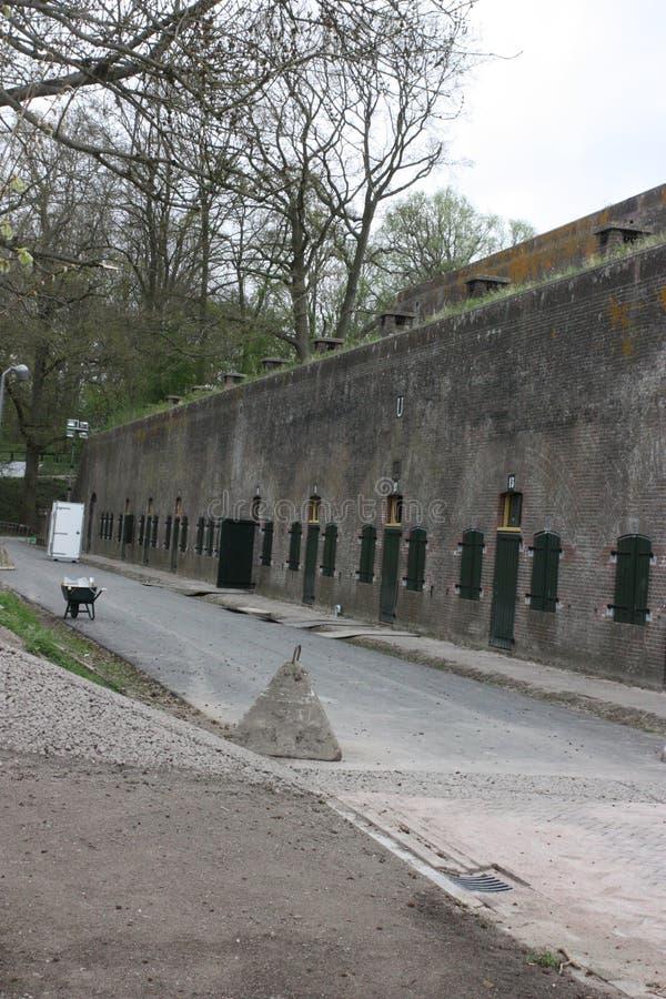 Forte militar Vechten em Bunnik nos Países Baixos foto de stock