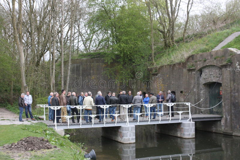 Forte militar Vechten em Bunnik nos Países Baixos fotos de stock royalty free