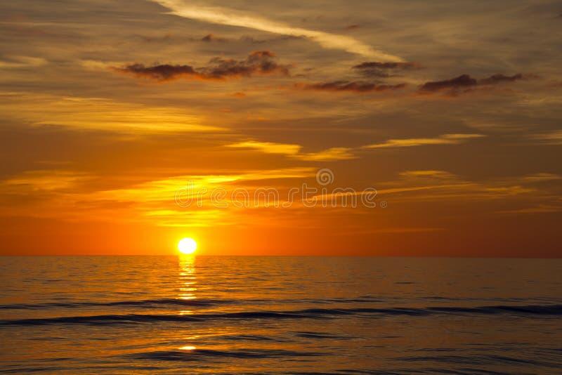 Forte Myers Beach, por do sol foto de stock