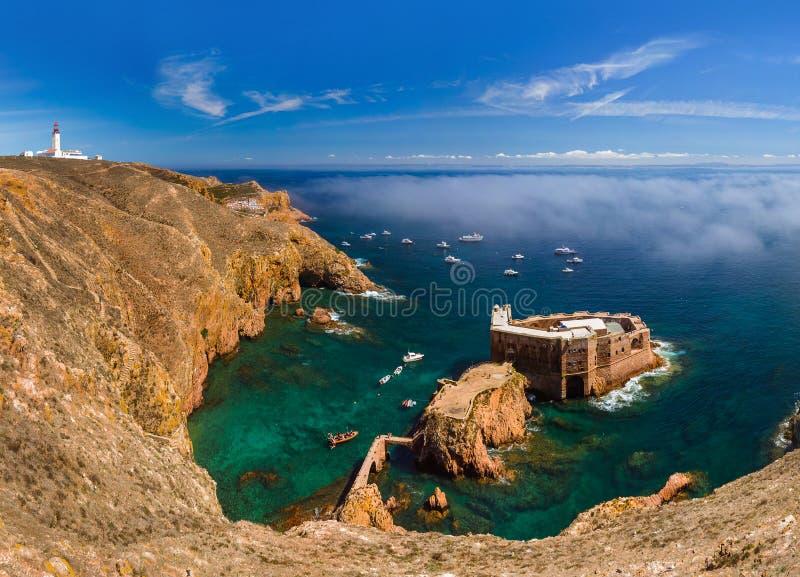 Forte na ilha de Berlenga - Portugal fotografia de stock