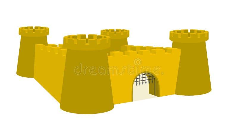 Forte ou custle ilustração royalty free