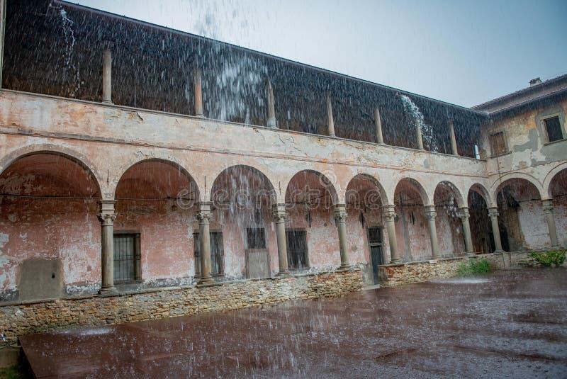 Forte pluie, image libre de droits