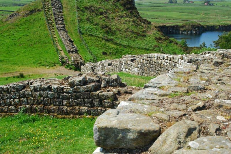 Forte romano na parede de Hadrians imagens de stock