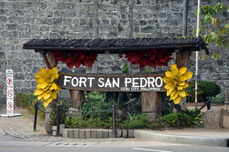 Forte San Pedro em Cebu, Filipinas imagem de stock royalty free