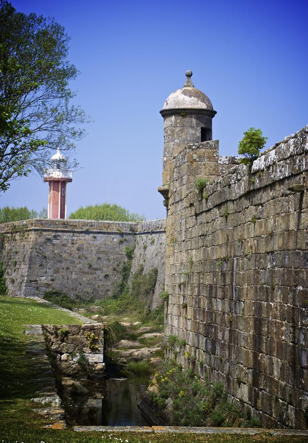 Forte Santiago da Barra, Viana do Castelo, Portugal stock afbeelding