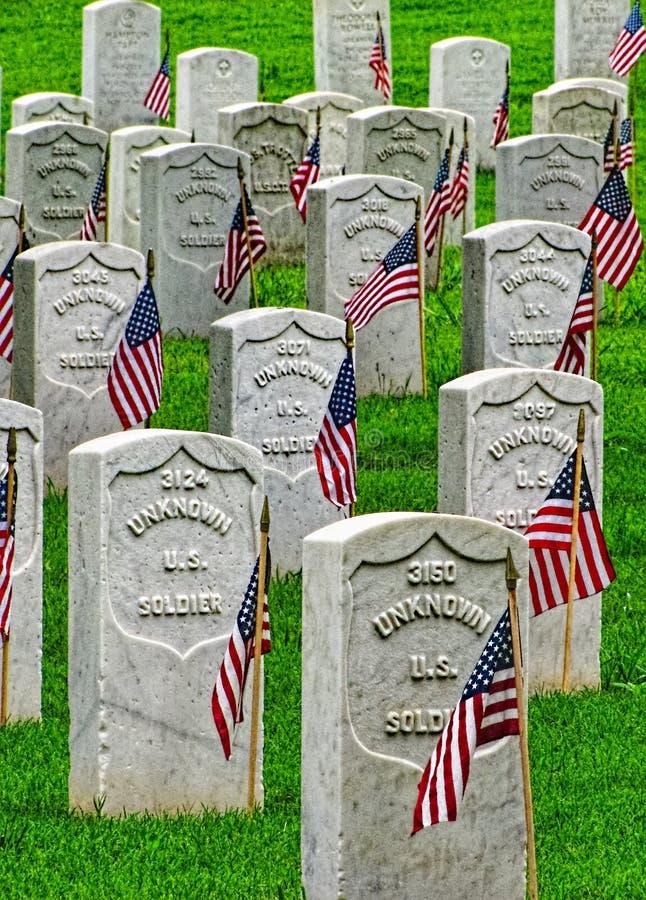 Forte Smith National Historic Cemetery 3 imagens de stock