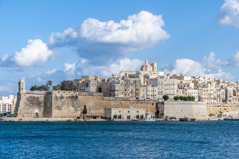 Forte St Michael em Senglea, Malta fotos de stock